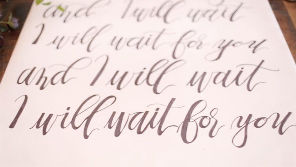 calligraphy wedding banner