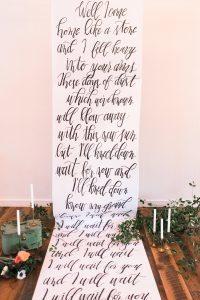 wedding calligraphy banner