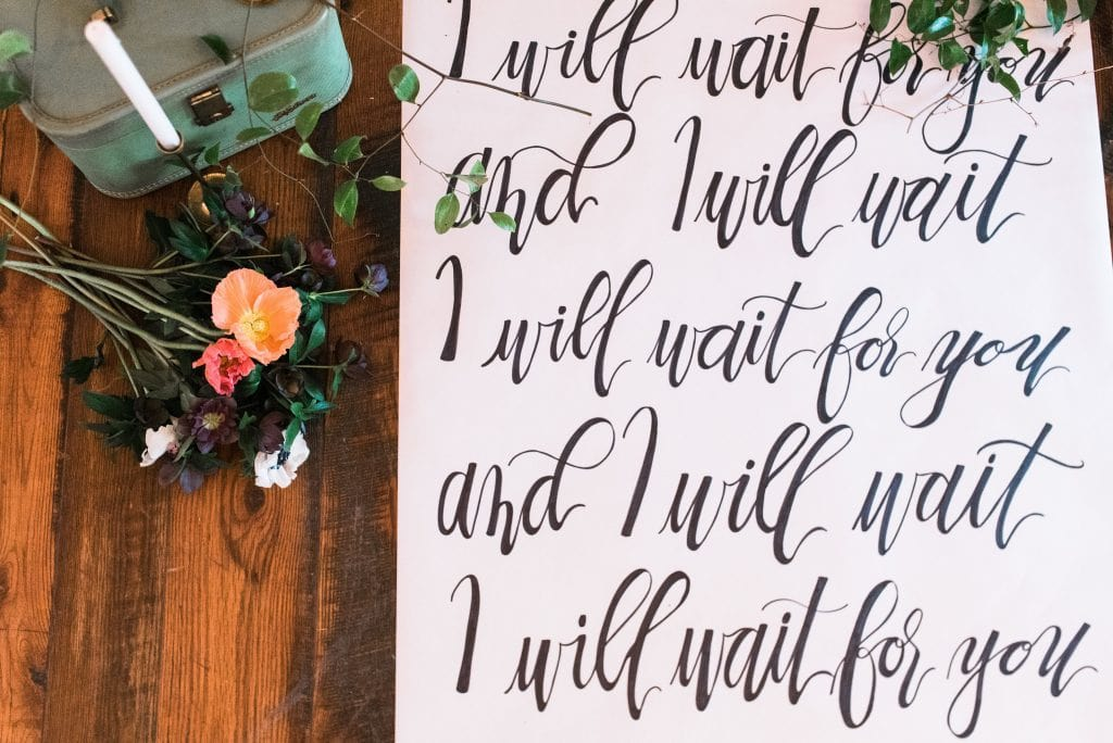 Wedding Calligraphy Details