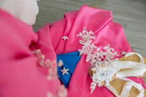 destination wedding video, destination wedding film, beach wedding, pink and blue wedding details