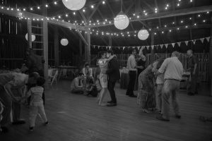 barn falling water wedding video