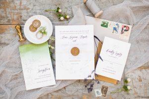 paper hearts invitations custom