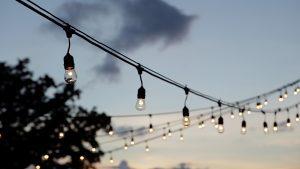 creative wedding lighting