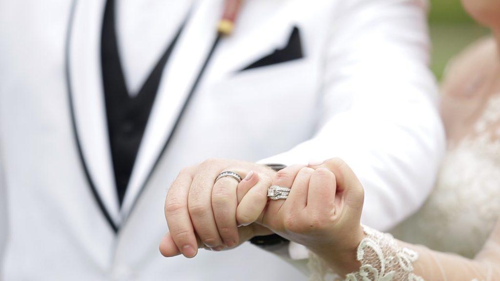 pinky promise wedding, white tux wedding, canaan valley wedding, wv wedding video