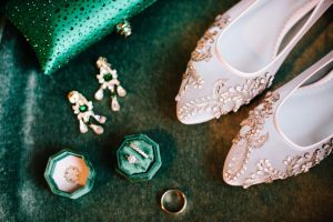 emerald green wedding details, january greenbrier wedding