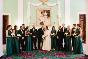 trellis room bridal party portrait