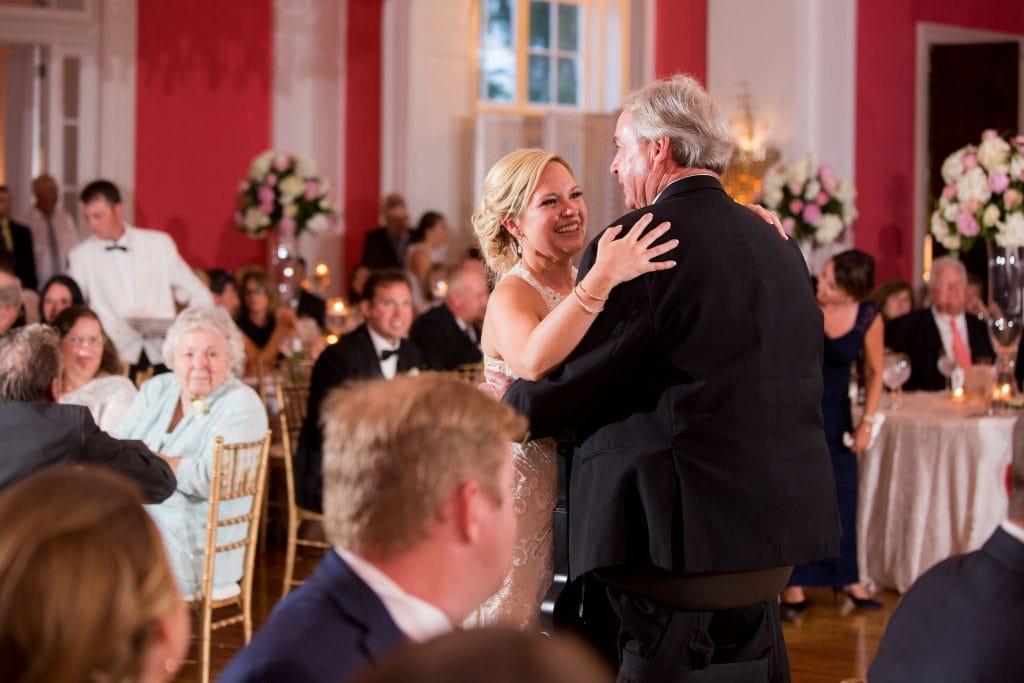 cameo ballroom reception, pink wedding reception