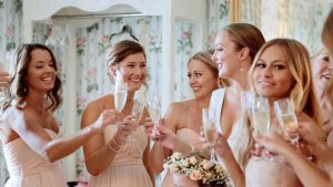 wedding video, bridal party toast